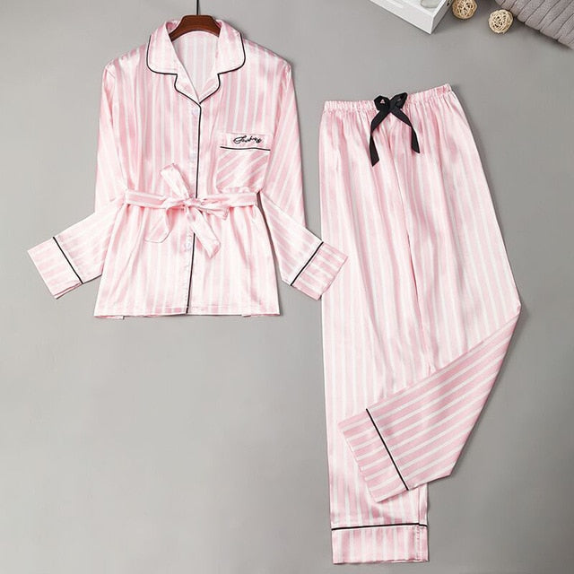 Benny Belted Pyjama in Candy Stripe