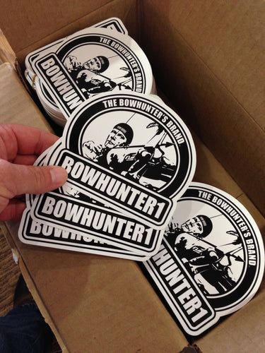 (3 pack) heavy duty BOWHUNTER1 all weather vinyl decals