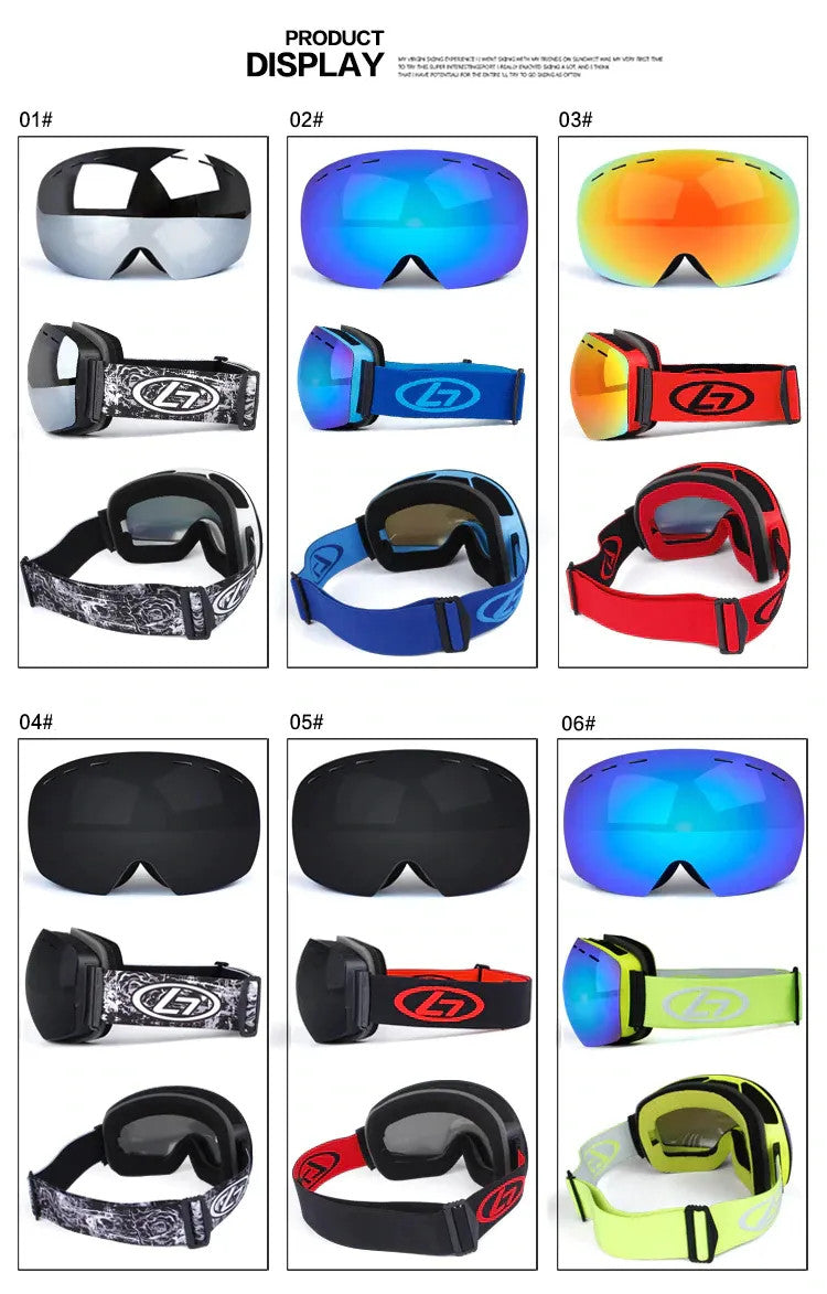 Goggles Product Display