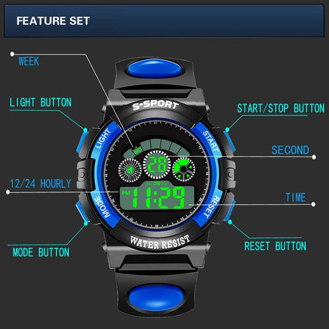Watches Analog Digital Sport man LED Waterproof Wrist Watch /Outdoor Gear for Camping