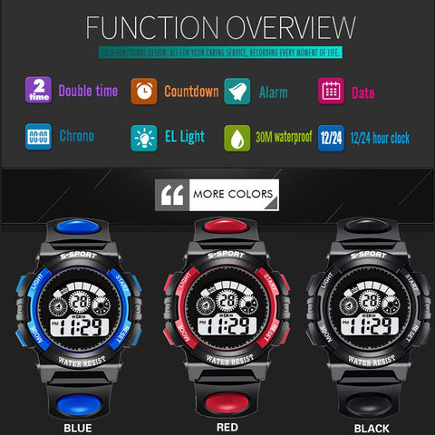 Watches Analog Digital Sport man LED Watches - Feet Outdoors