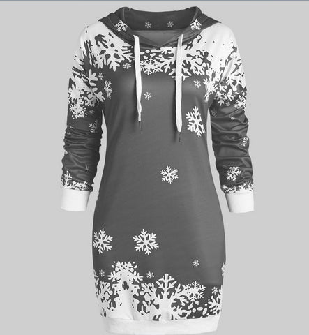 Women Christmas Hoodie Dress