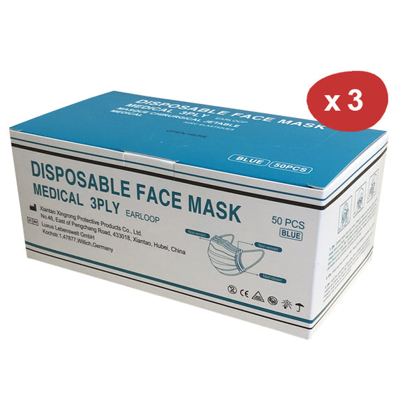 Masque chirurgical jetable ADULTE (x3 boites de 50)