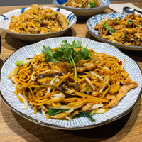Shredded Pork with Crisp Spicy Pickles Fried Yellow Noodle 辣炒榨菜肉絲油麵
