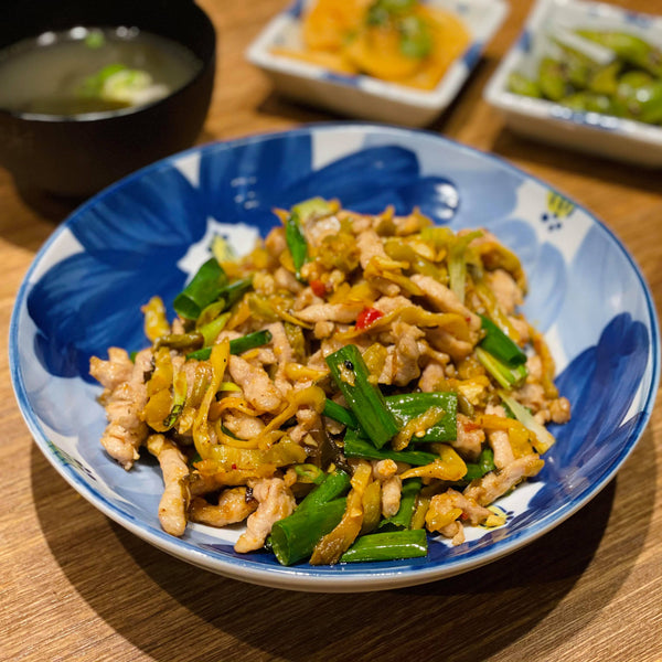 Shredded Pork with Crisp Spicy Pickles 辣炒榨菜肉絲
