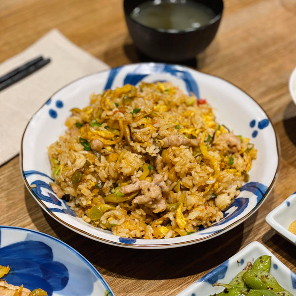 Shredded Pork with Crisp Spicy Pickles Fried Rice 辣炒榨菜肉絲炒飯