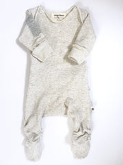 Vingerhoet Baby Ready Romper Gift Onesie Long sleeve, Footed, Tan