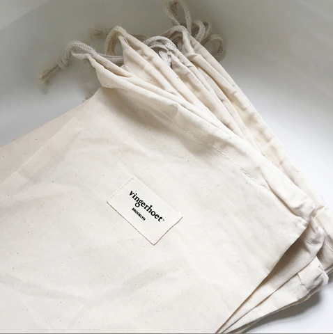 Vingerhoet Organic Muslin Gift Bag ships with all Rompers