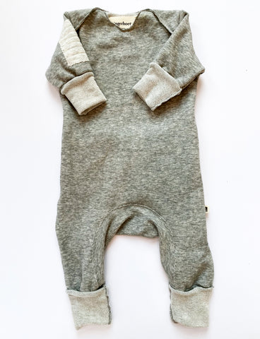 Ready Romper—Grey, Long Sleeve