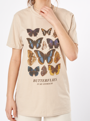 Butterflies In My Stomach  Oversized Tee