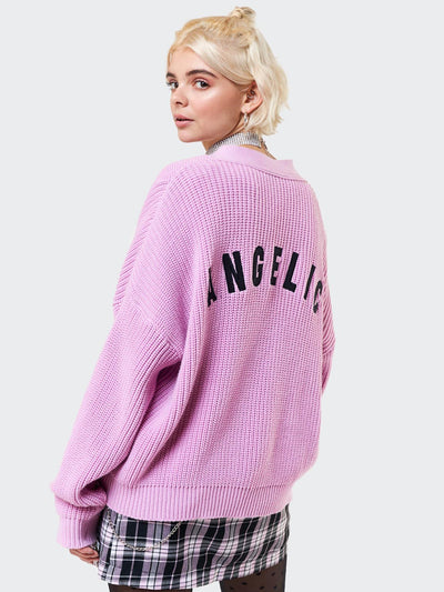 Angelic Pink Knitted Cardigan