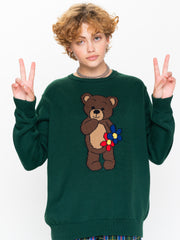 Cute Teddy Bear Knitted Jumper