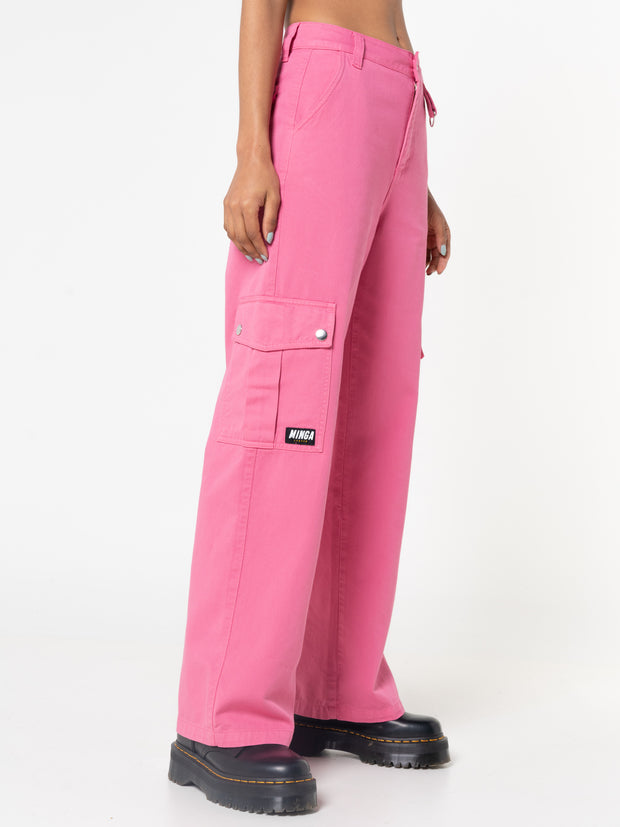 Hot Pink Utility Trousers
