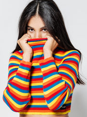 Rainbow Ribbed Top Minga London