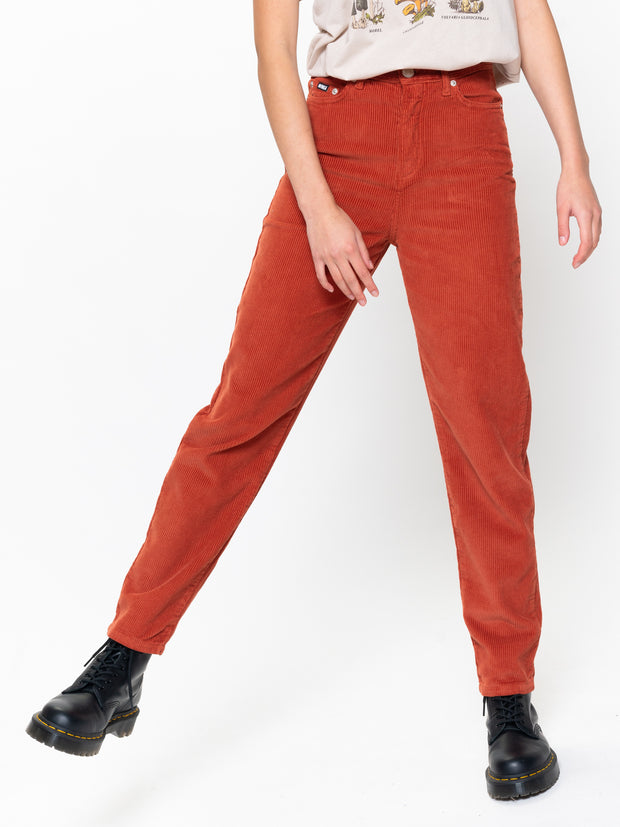 Rust Corduroy Mom Jeans
