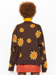 Sunflower Girl Knitted Cardigan