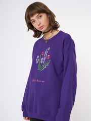 Don't Hurt Me Sweater in Purple
