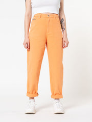Tangerine Denim Mom Jeans