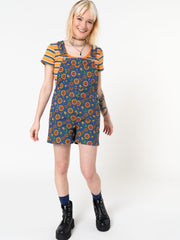 Wild Sunflower Dungaree Shorts