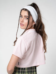 Baby Pink Cropped Polo Shirt