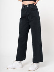 Denim Skater Jeans in Black - Minga London