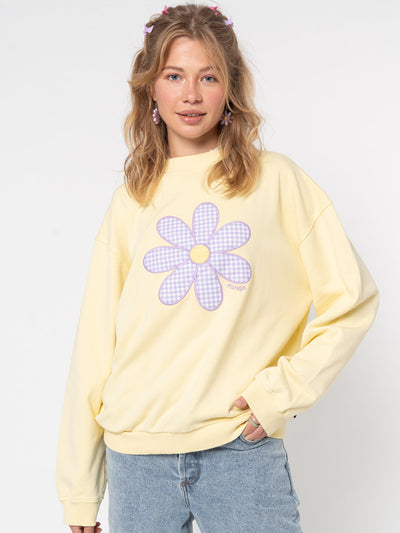 Daisy Gingham Yellow Sweater - Minga London