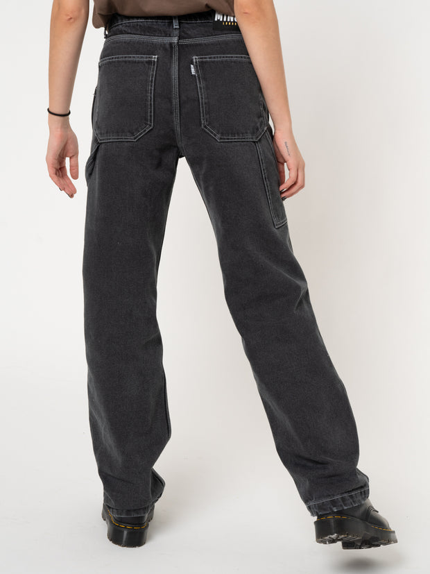 Carpenter Jeans in Washed Black - Minga London