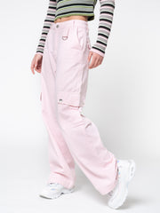 Powder Pink Utility Trousers - Minga London