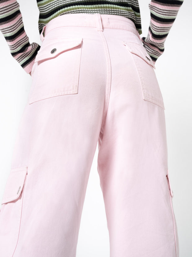 Powder Pink Utility Trousers