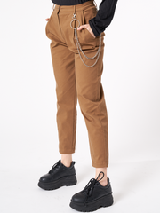 women Peg Leg Trousers With Chain