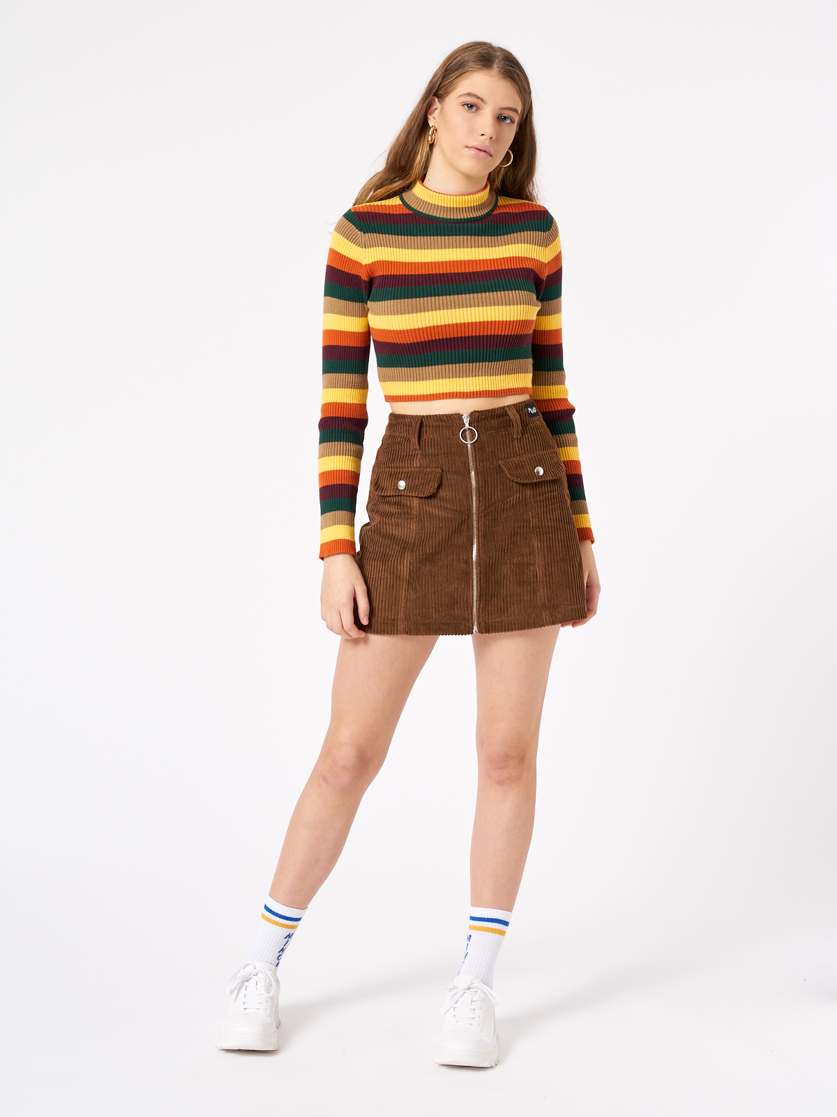 Deep Warm Stripes Ribbed Shirt