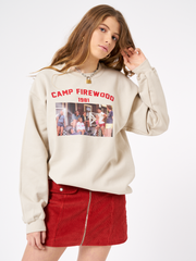 Camp Firewood Sweater in Beige