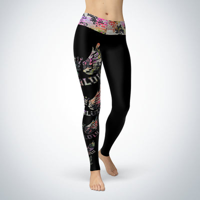 Graffiti Wings Logo Leggings