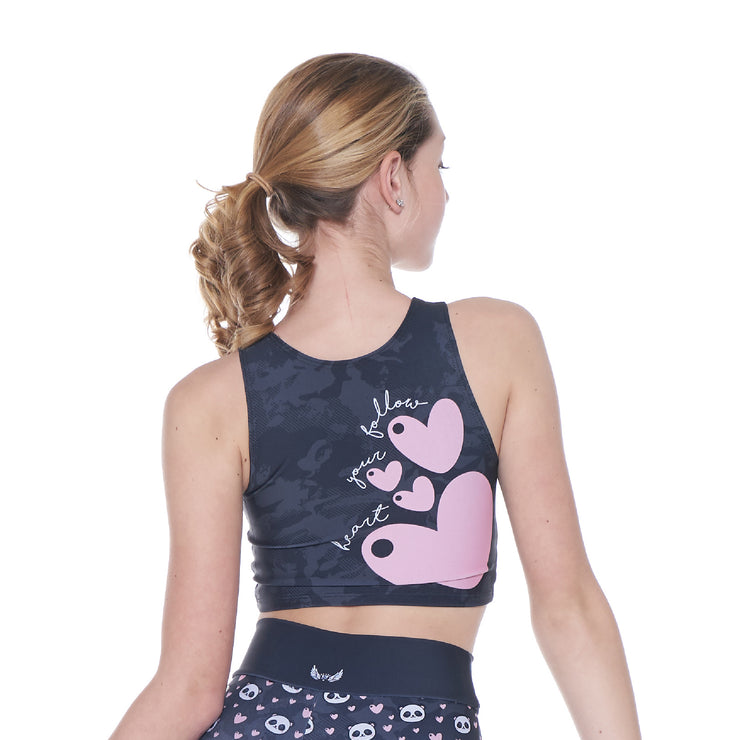 Panda Love Crop Top