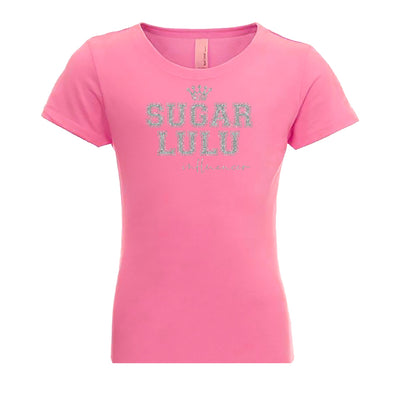 INFLUENCER Varsity PINK Tee with silver glitter logo