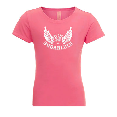 Signature Wings PINK Tee with White logo