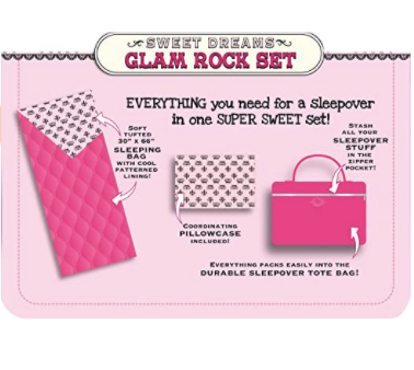 Glam Rock Sweet Dreams Sleeping Bag & Carry Case