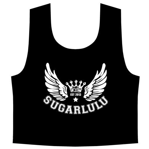 Double Logo Crop Top