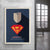 Mindset poster superman businessman with windows in the background