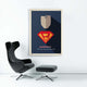 Mindset poster superman businessman with black chair
