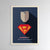 Mindset poster superman businessman plexiglass art light background