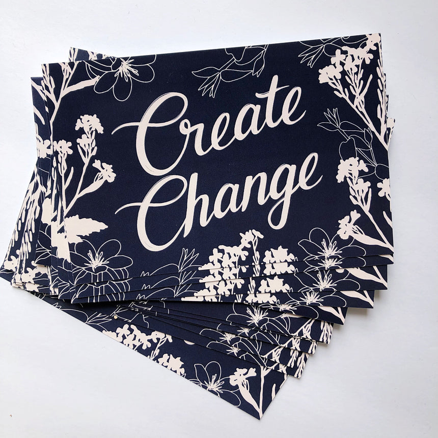 Free Download: Create Change Postcard
