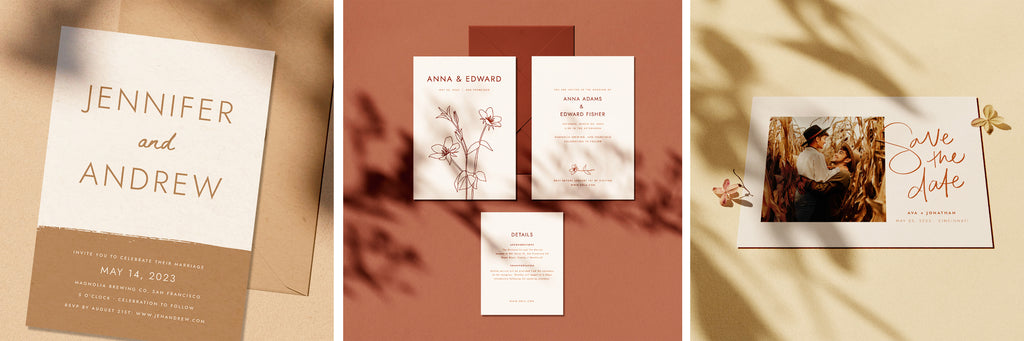 Vintage Wedding Invitations, Unique Wedding Invitations, autumn Wedding Invitations