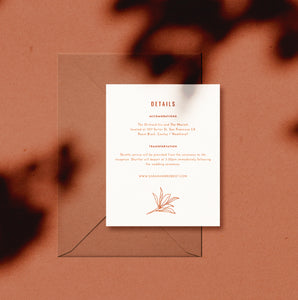 Desert Willow Wedding Invitation