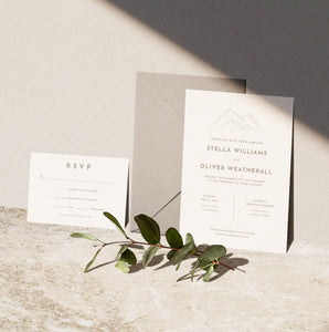 Mountain Wedding Invitation
