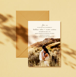 Colorado Wedding Invitation
