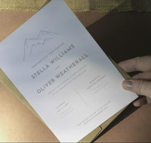Load and play video in Gallery viewer, Mountain Wedding Invitation