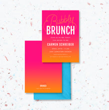 Load image into Gallery viewer, Bubbly Brunch Bridal Shower Invitation