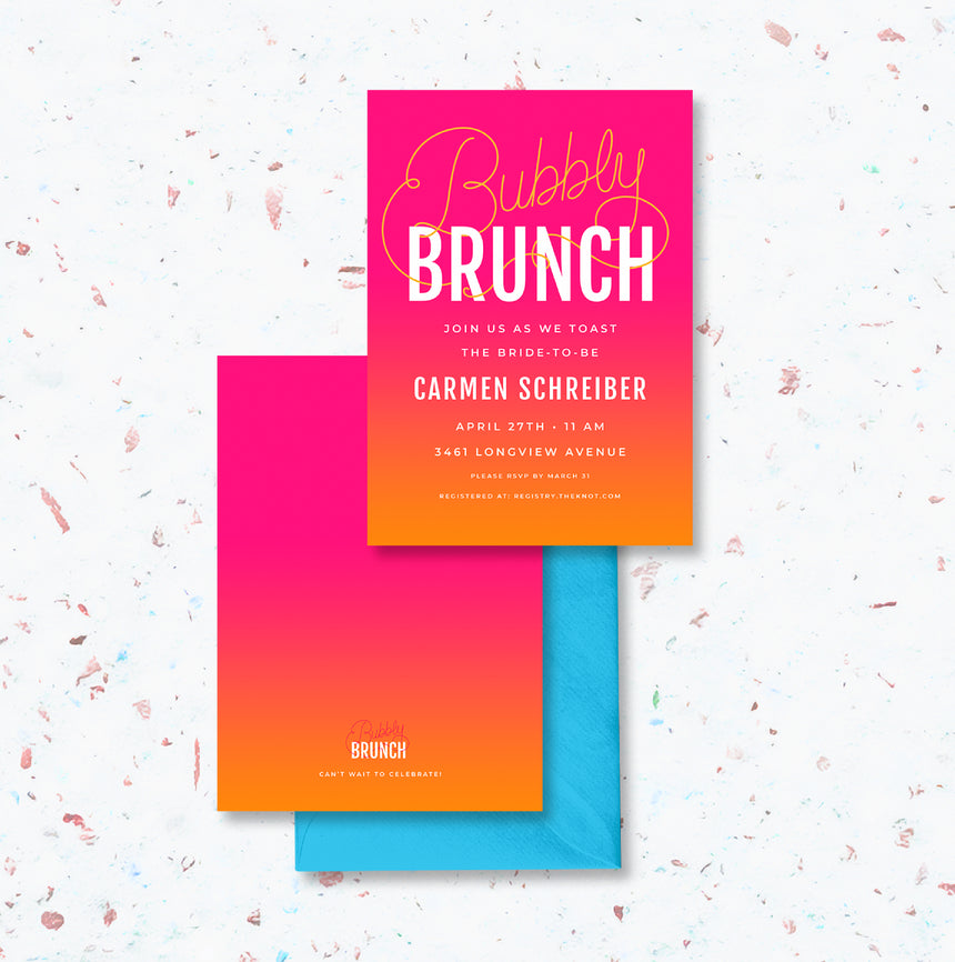 Bubbly Brunch Bridal Shower Invitation