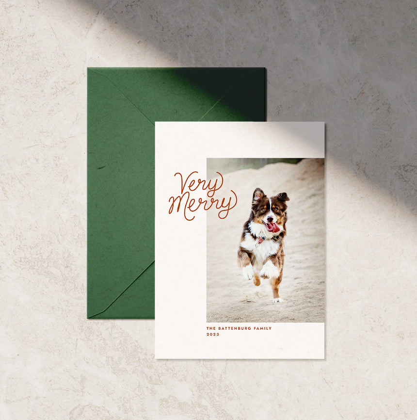 Very Merry Holiday Card